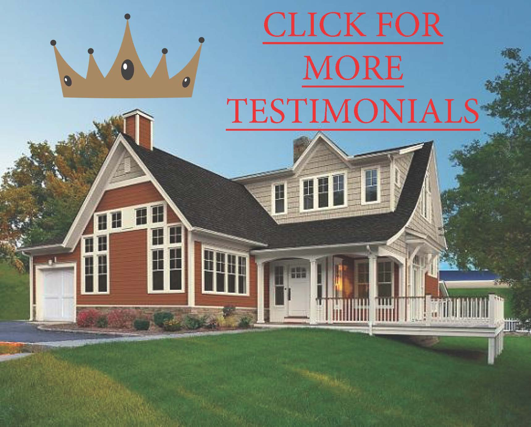 Click to read testimonials from satisfied clients of King Quality Construction.