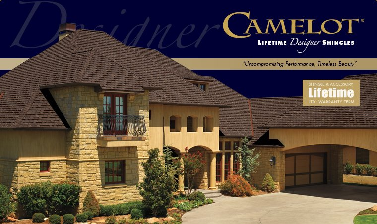 Camelot Ultra-Premium Lifetime Designer Shingles, installed by King Quality Construction