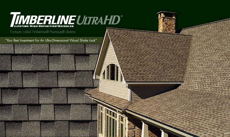 King Quality Construction installs Timberline Ultra HD shingles.