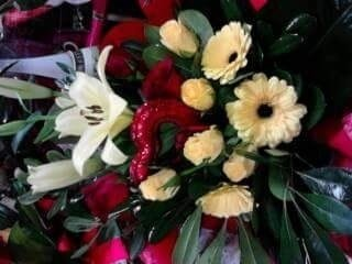 composizione fiori recise