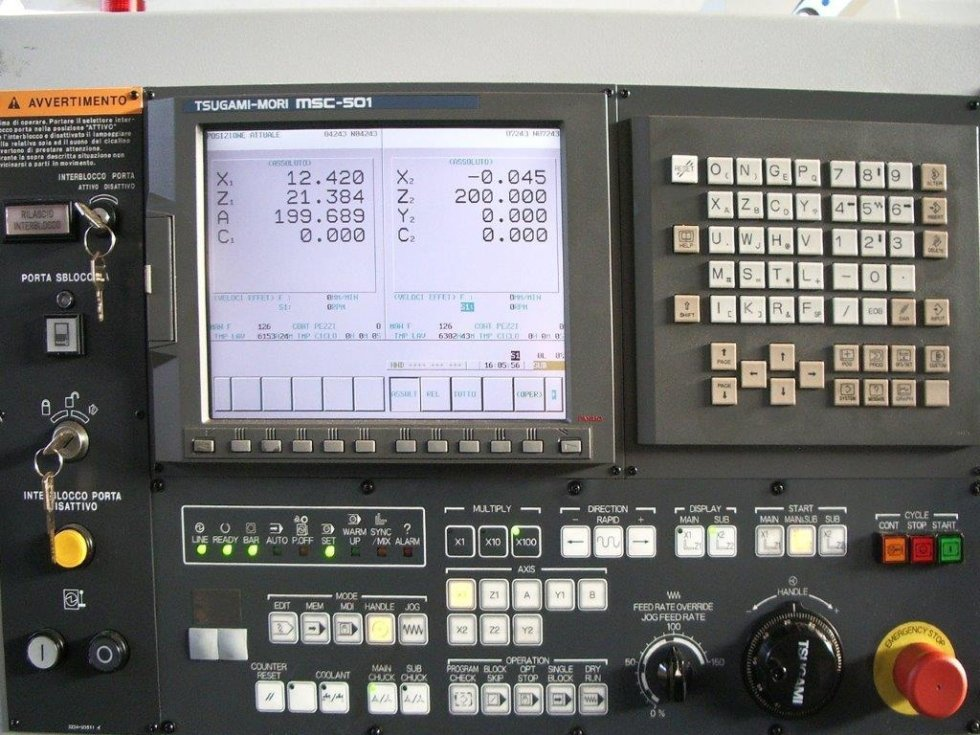 MECS programming of machine tools