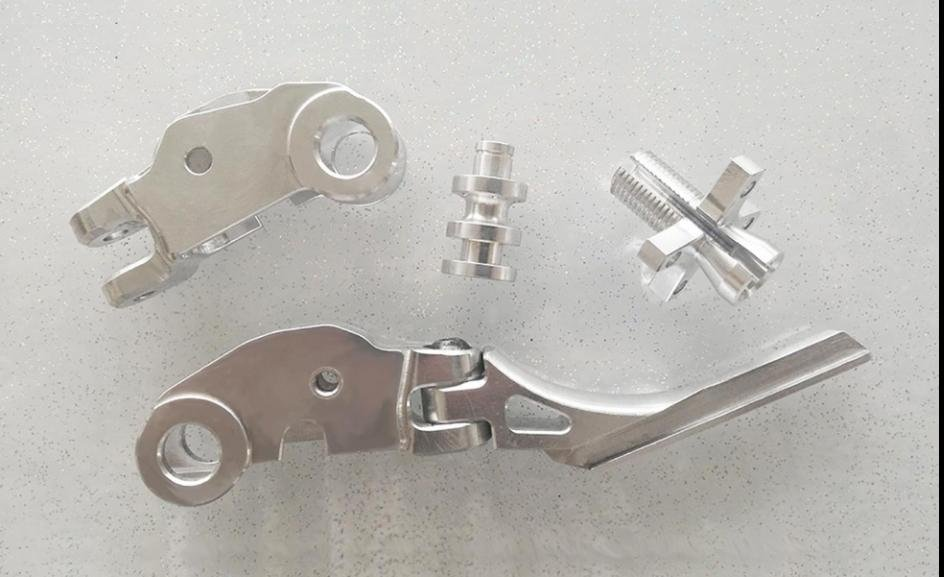 Milled parts for motorcycles