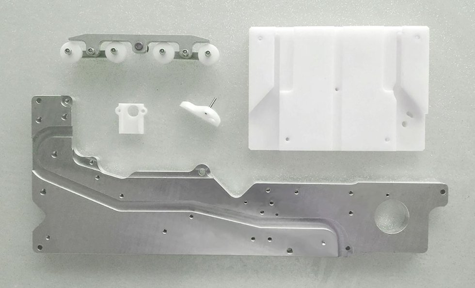 Milled parts for banking automation