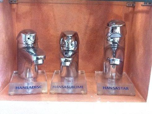 tre rubinetti Hansa