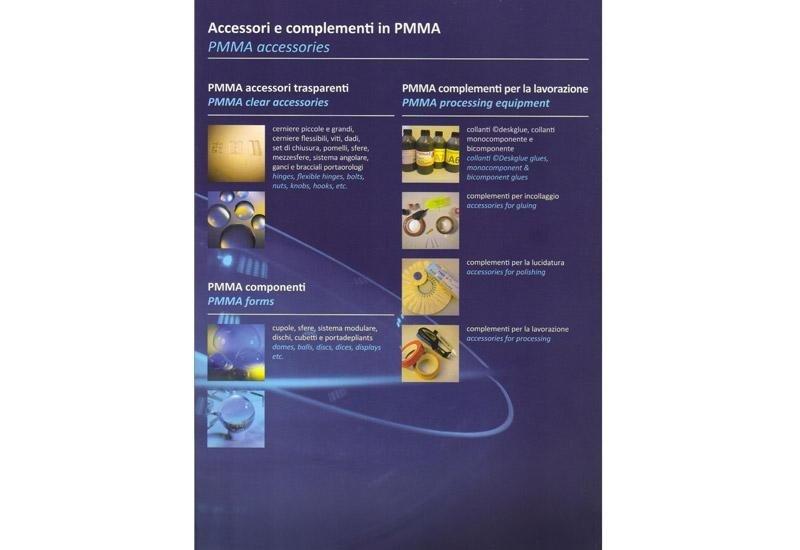 Accessori e complementi in PMMA