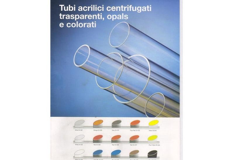 Tubi acrilici centrifugati trasparenti