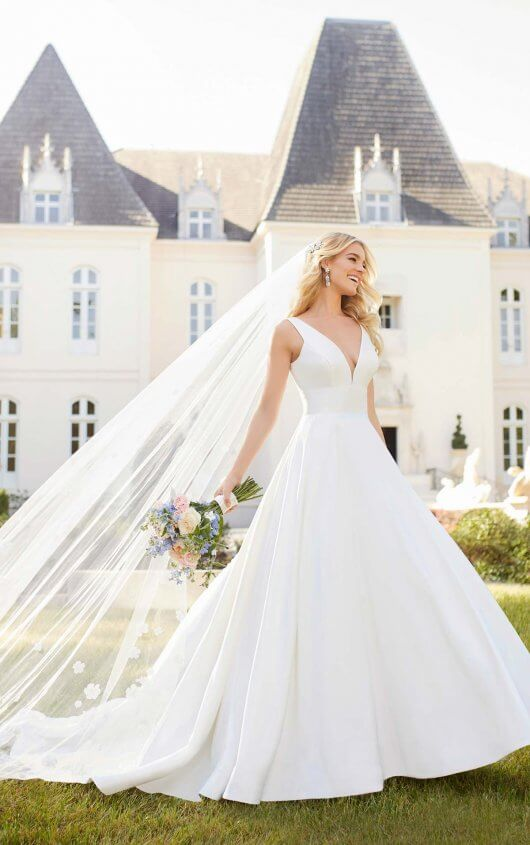 995ed65dbb Royal Inspired Simple Wedding Dress 6758.