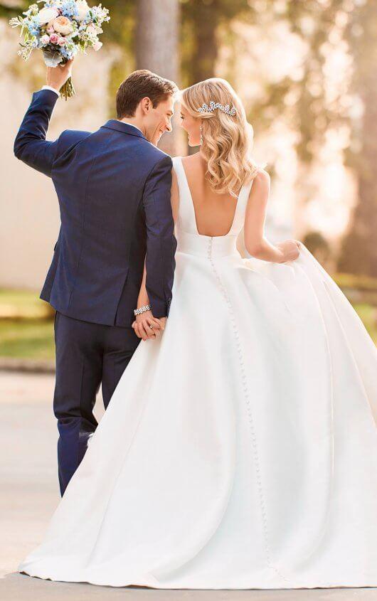 7f43f492e3682a Royal Inspired Simple Wedding Dress 6758.