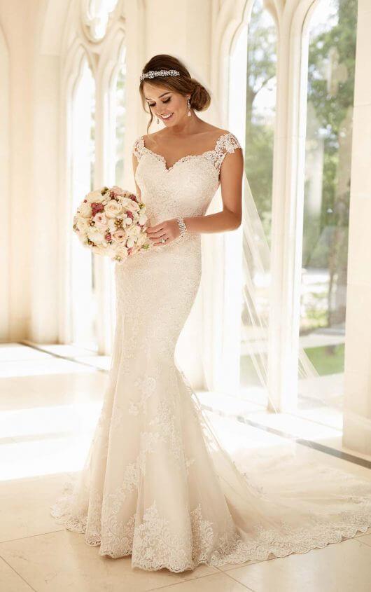 e6036bd6b9 Illusion Lace Back Wedding Dress 6249.