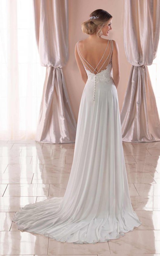 be27f8f2c246 Casual Wedding Dress with Beaded Bodice 6717.