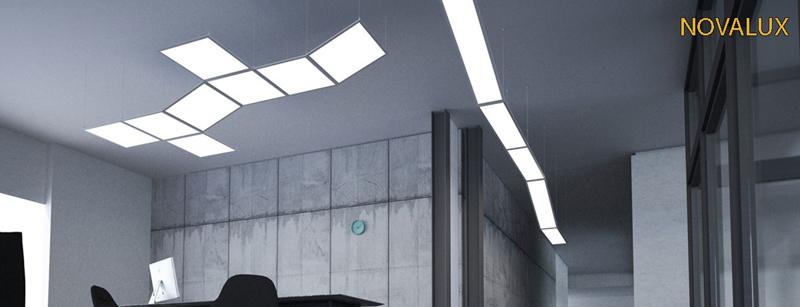 illuminazione sul soffitto di una stanza
