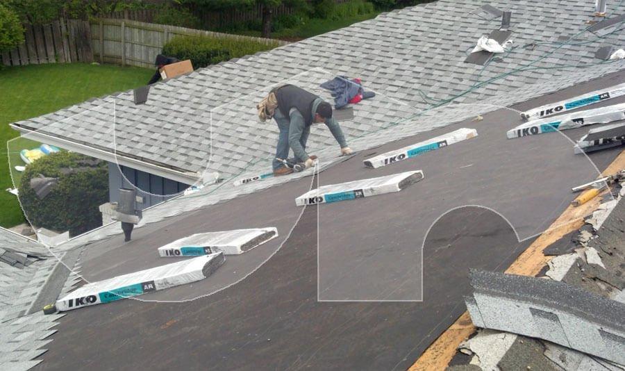 Aurora Dual Grey Roofing Closeup