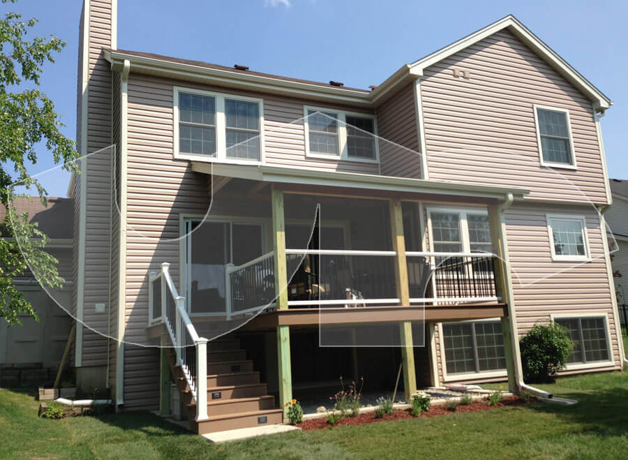 Bartlett Hazel Vinyl Siding, Composite Deck