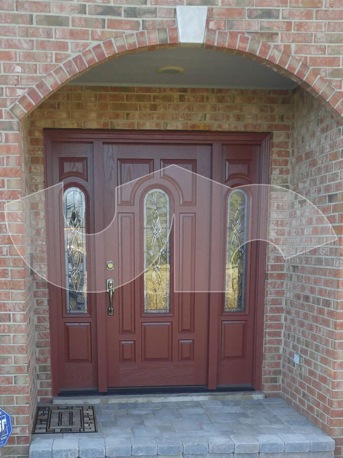 Mundelein Fiberglass Entry Door with Sidelites