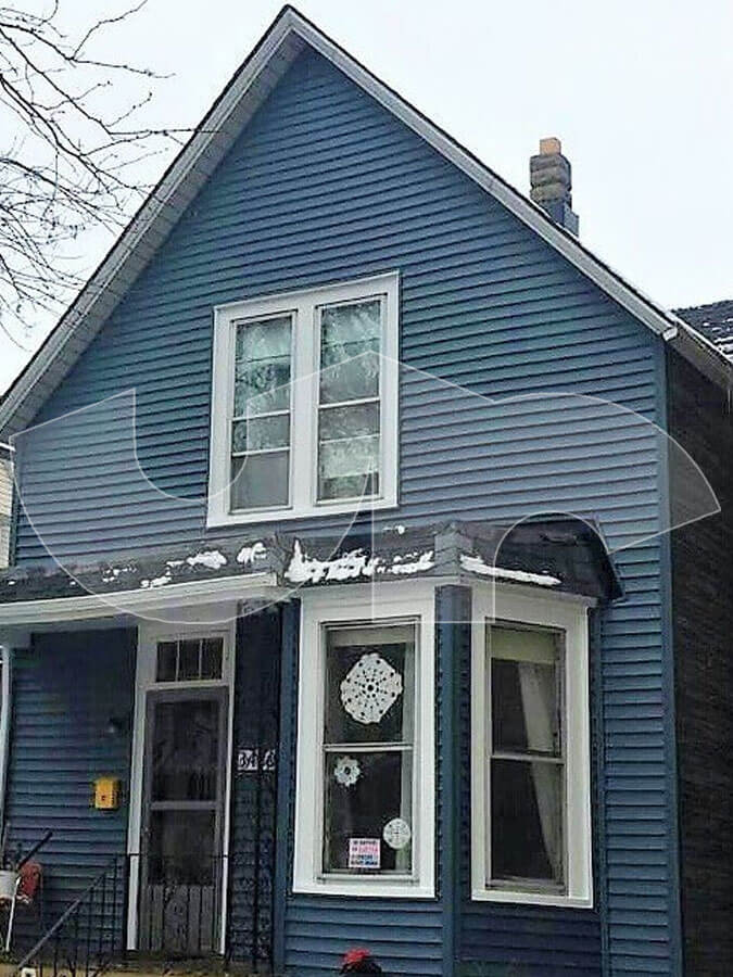 Chicago Steel Blue Siding