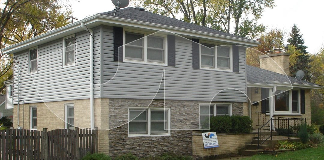 Downers Grove Grey Siding and Stone
