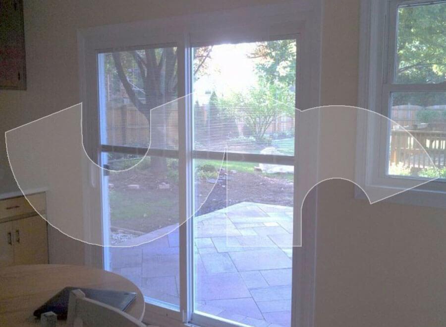 Elmhurst Patio Door with Blinds