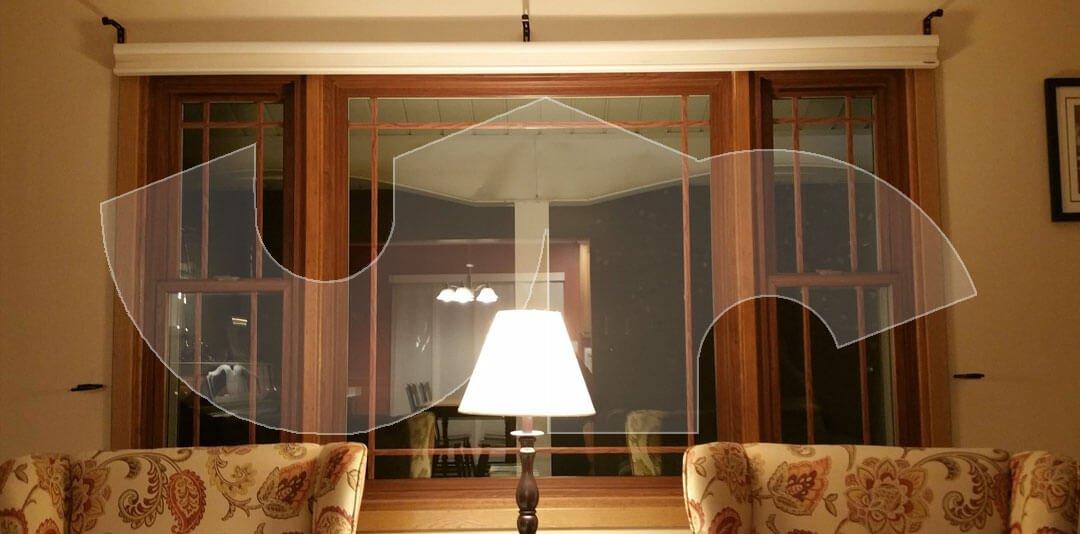 Grayslake Cherry Woodgrain Vinyl Windows