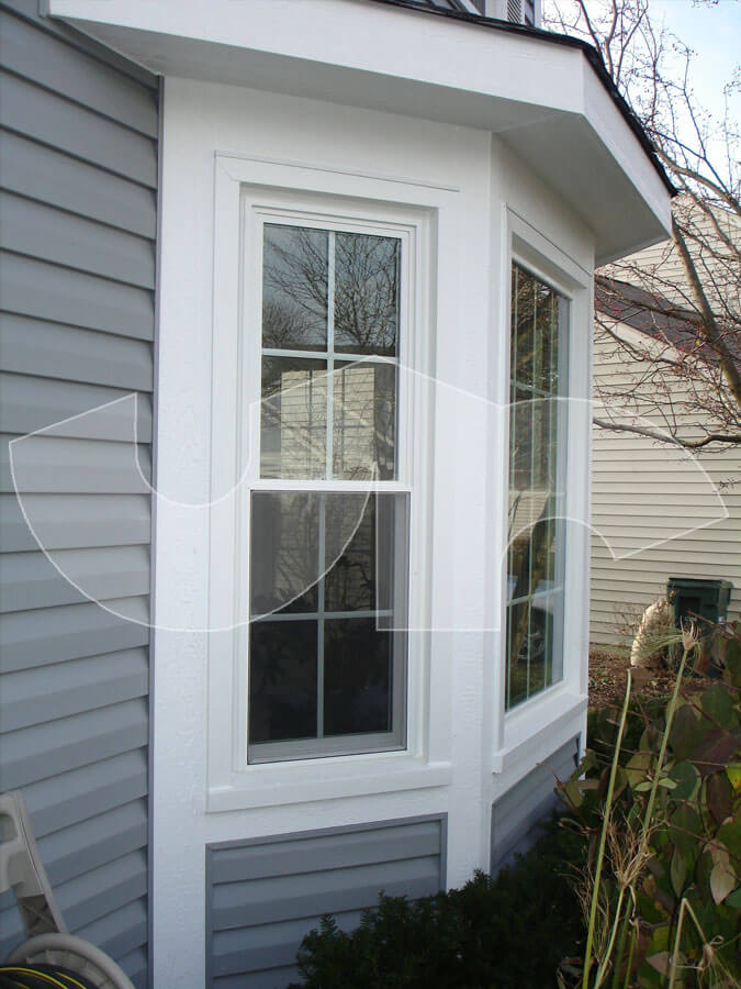 Gurnee Grey Vinyl Siding with LP Trim