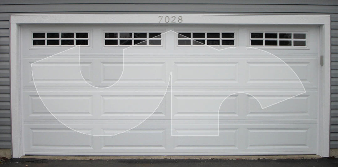 Gurnee Raised Long Panel Garage Door with Stockton Glass