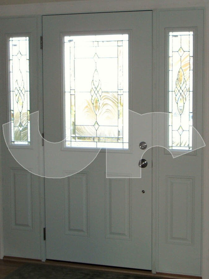 Gurnee Pella Fiberglass Entry Door with Sidelites