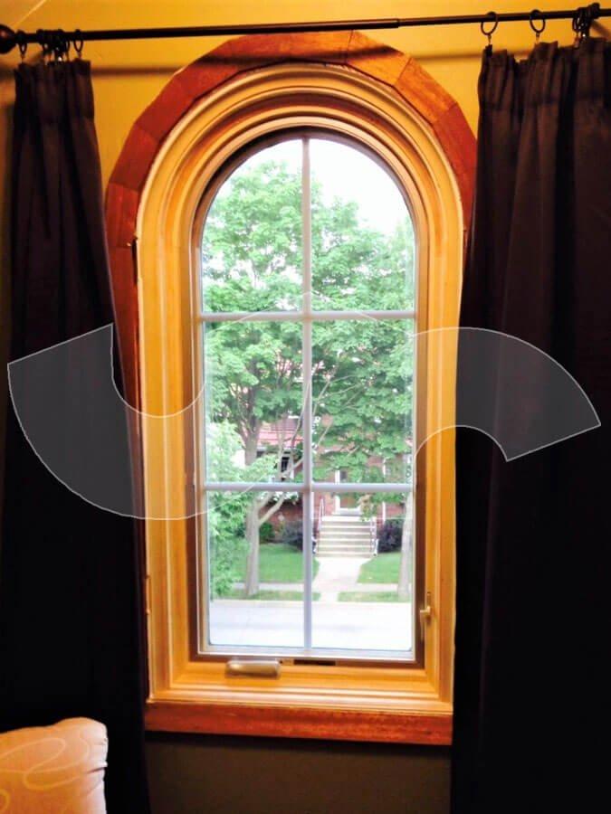 Park Ridge Pella Springline Arch Casement