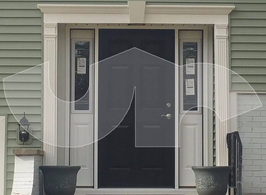 Lombard Black Entry Door with Sidelites