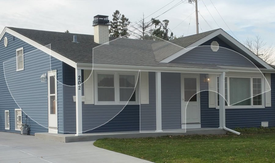 Lombard Regatta Blue Vinyl Siding
