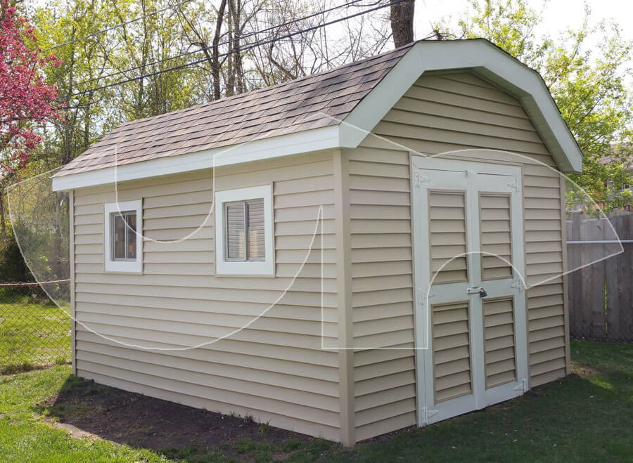 Lombard Vinyl Siding on Shed