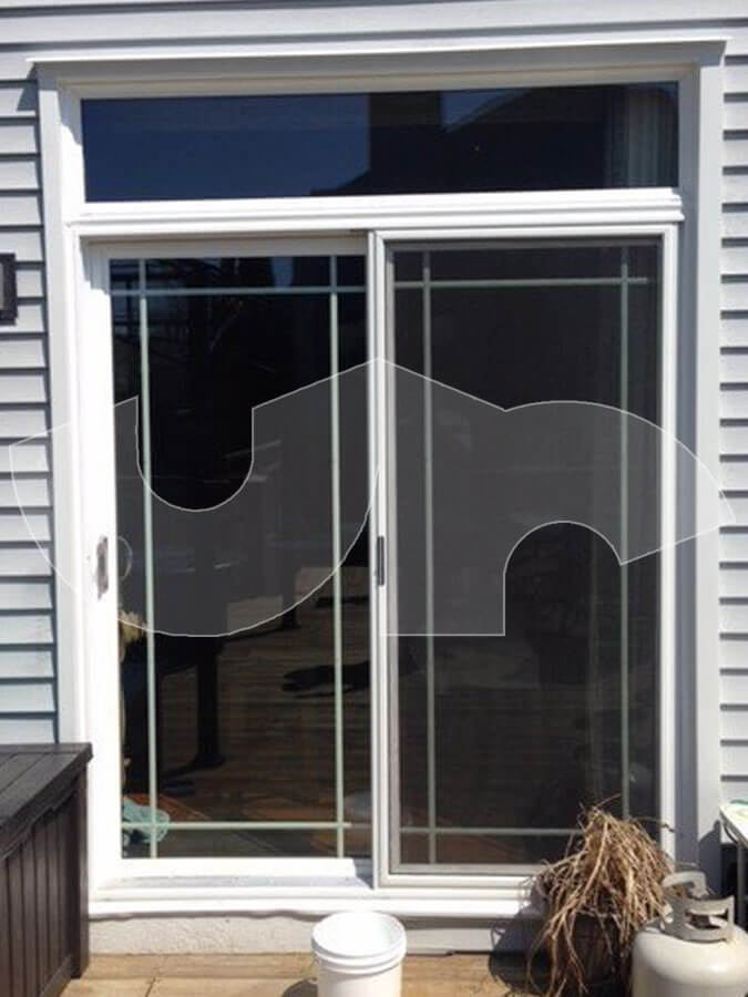 Round Lake Patio Door with Transom