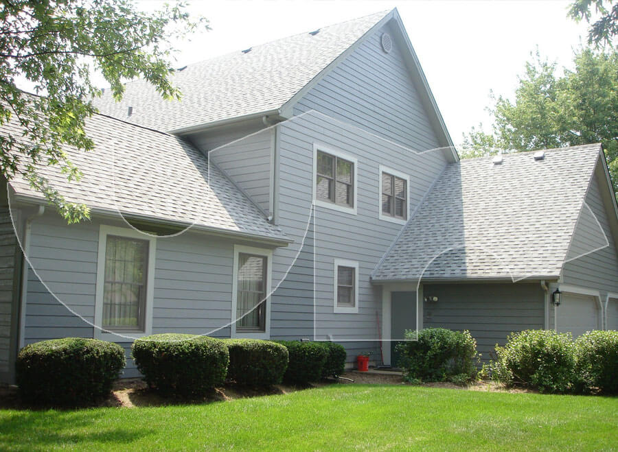 West Chicago LP Smartside, Trim, and Roof-Grey