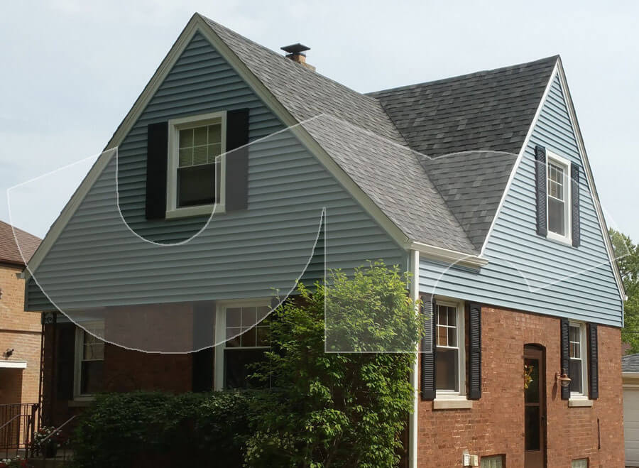 Westchester Wedgewood Blue Vinyl Siding-Charcoal Grey Roof