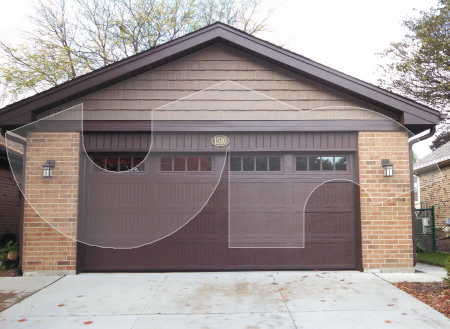 Wheaton Brown Carriage Style Garage Door