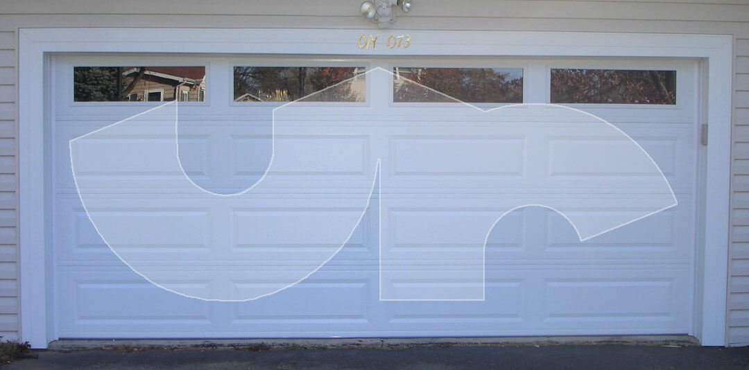 Wheaton Raised Long Panel Garage Door with Glass