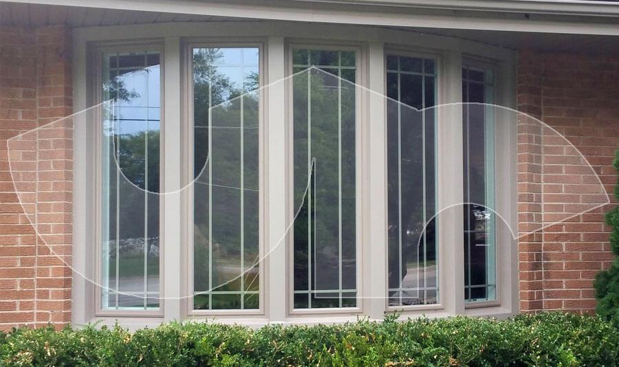 Wheaton Prairie Style 5-lite Bow Window