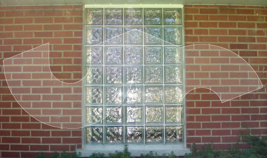 We install Glass Block Windows