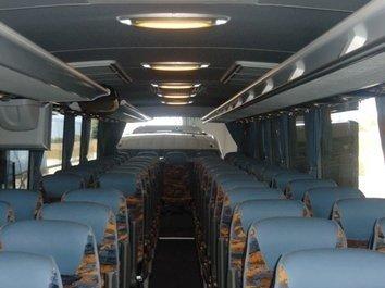 Interno di un bus EVOBUS MERCEDES TURISMO RHD 16 DA 60 POSTI