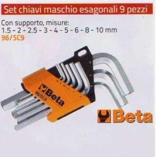 SET MASCHIO ESAGONALI 9 PEZZI