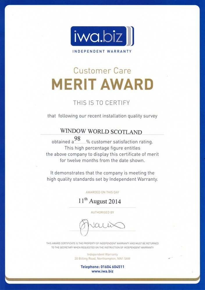 Customer care Merit award
