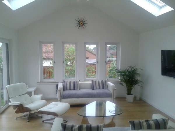 Interior view of room extension