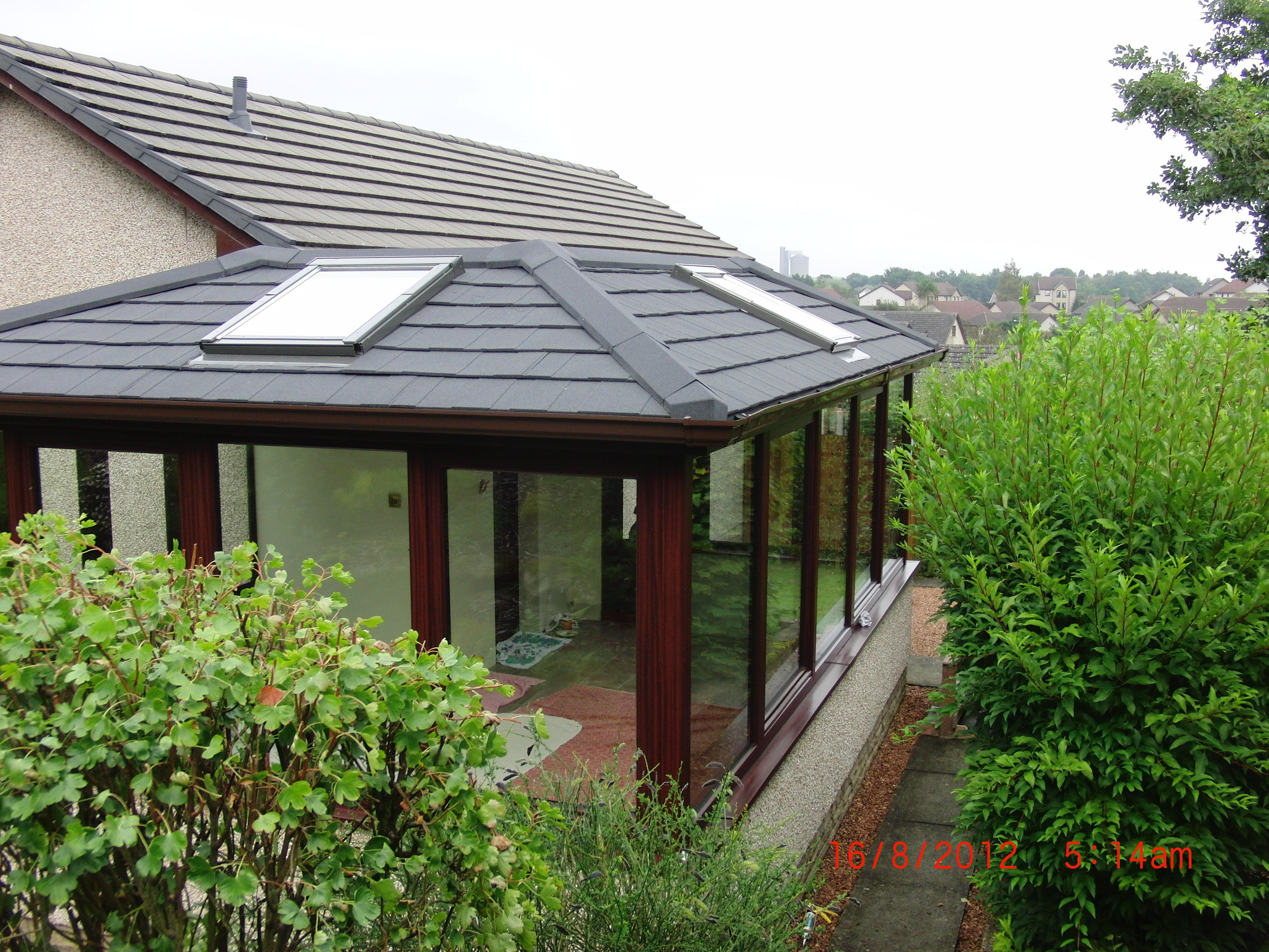 Roof installed at a conservatories
