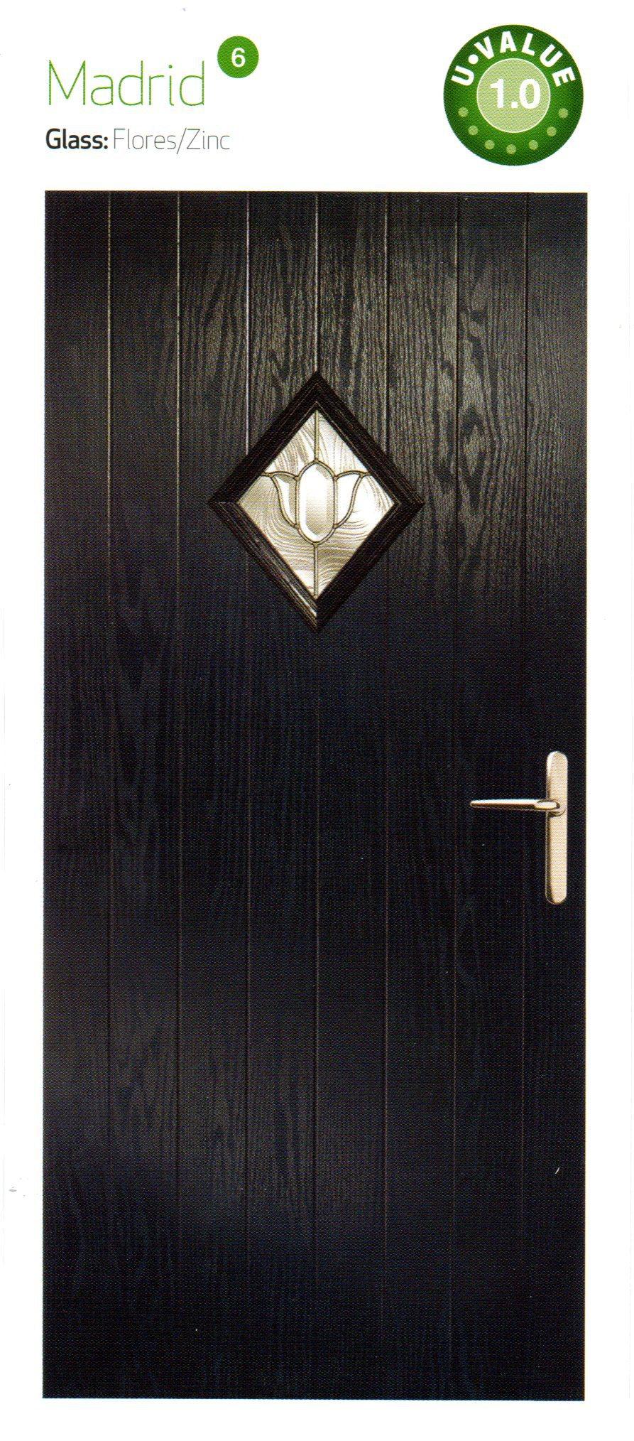 composite doors in black color