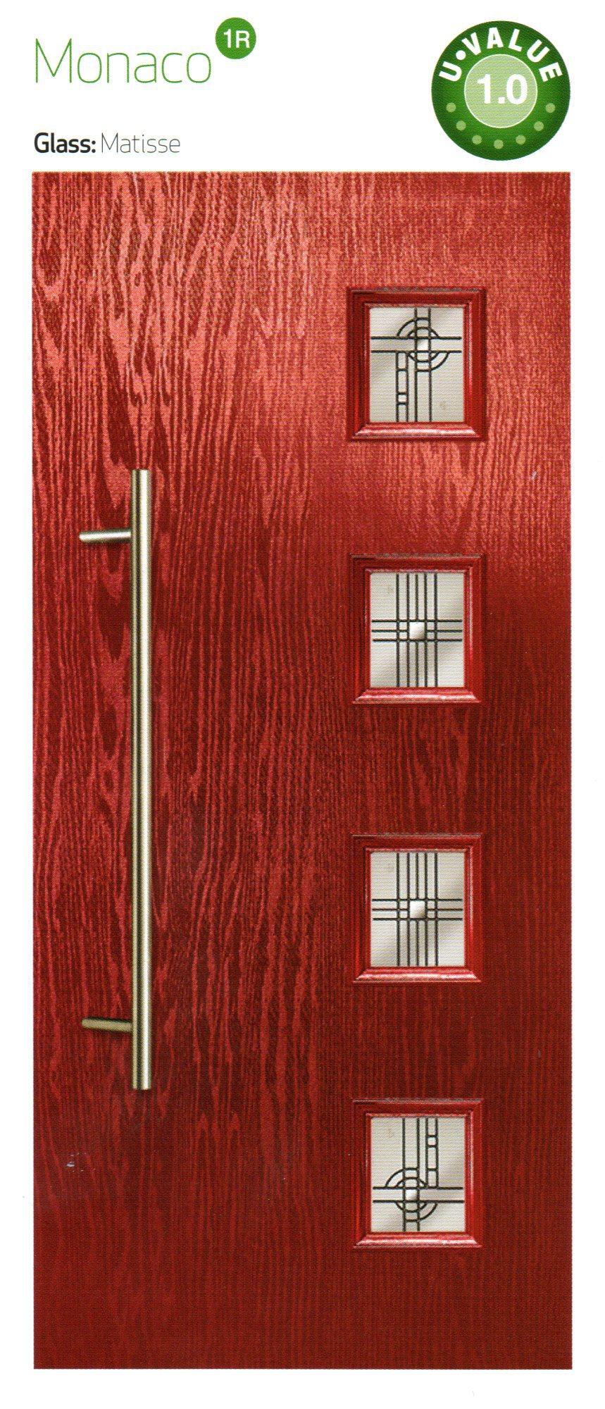 composite doors in reddish black color