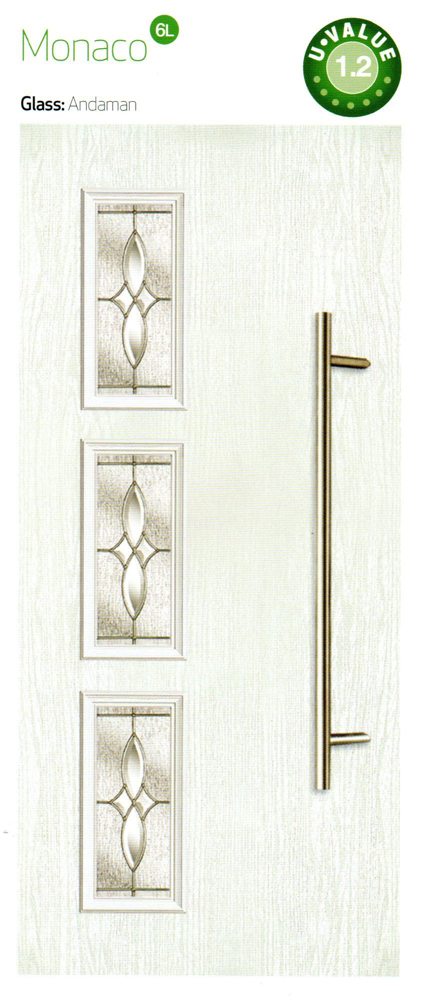 composite doors in white color