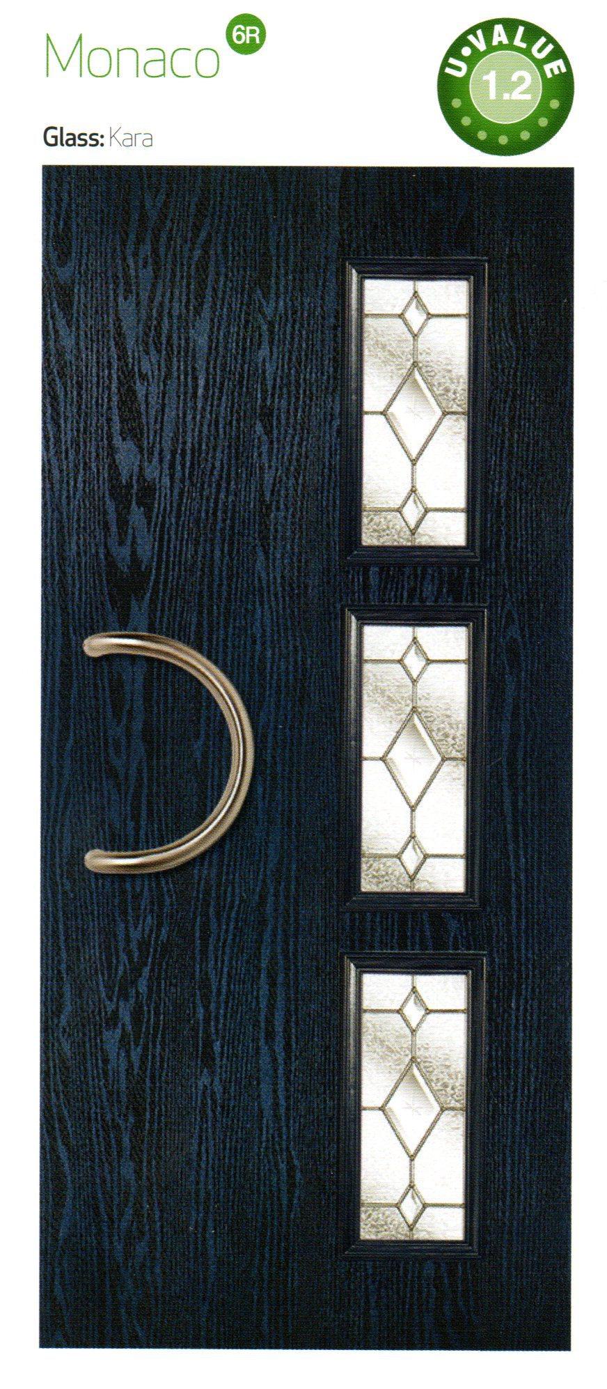 composite doors in blue black color