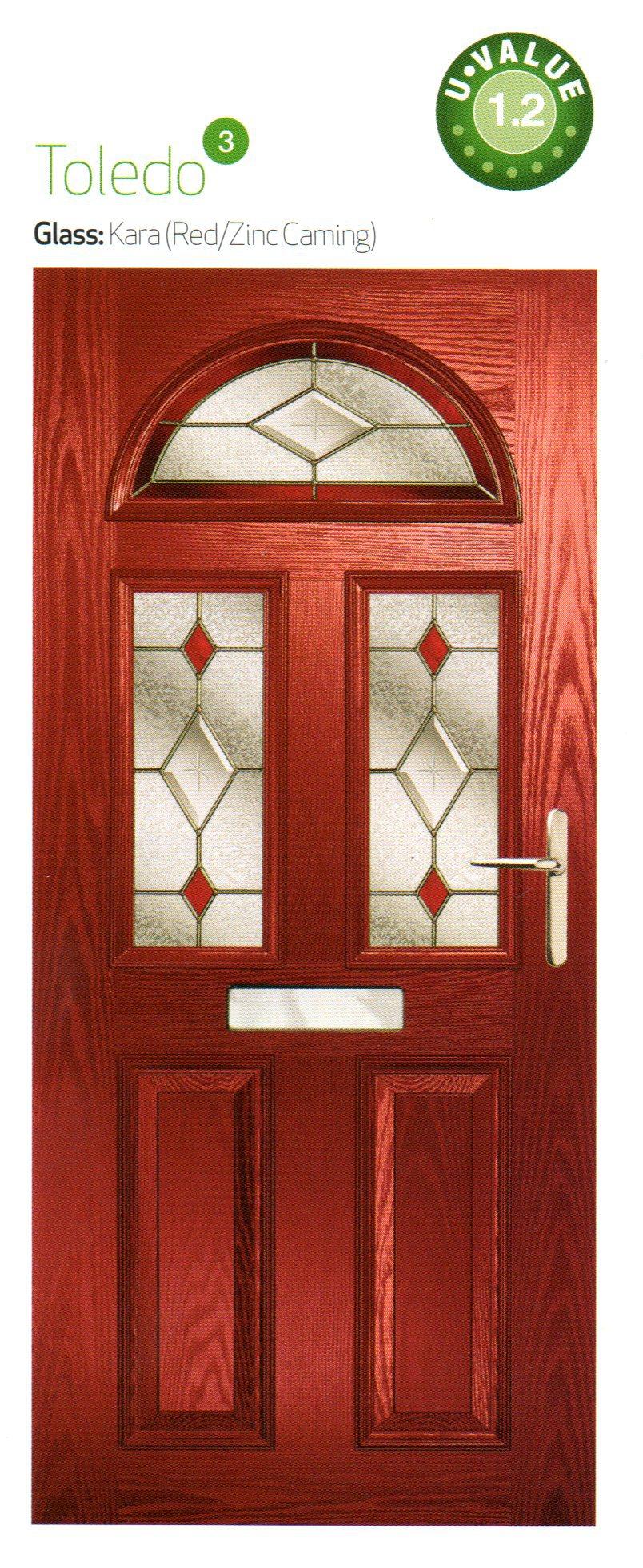 composite doors in brown color