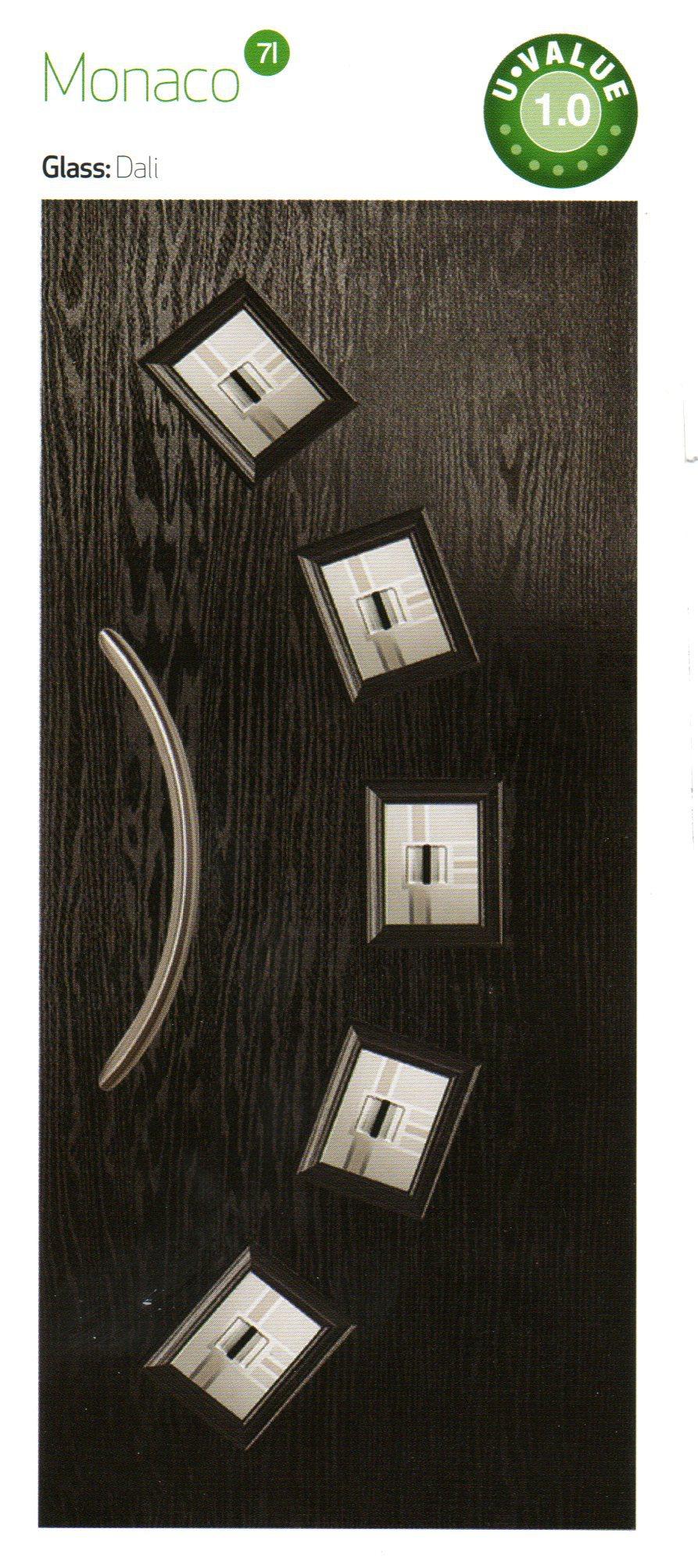 Black color composite door