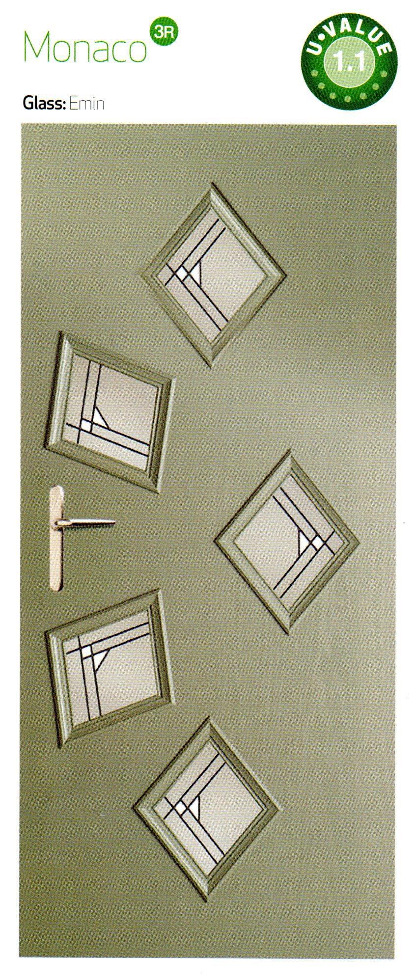 Grey color composite door