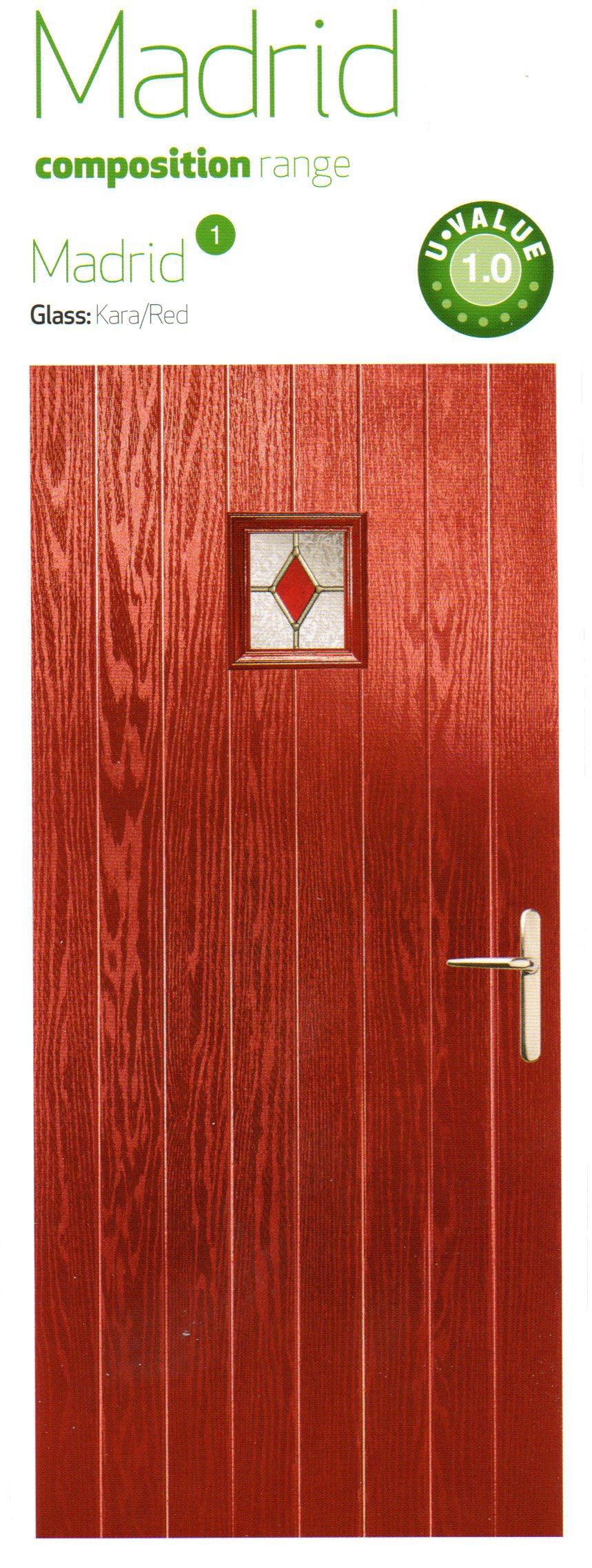 Red color composite door