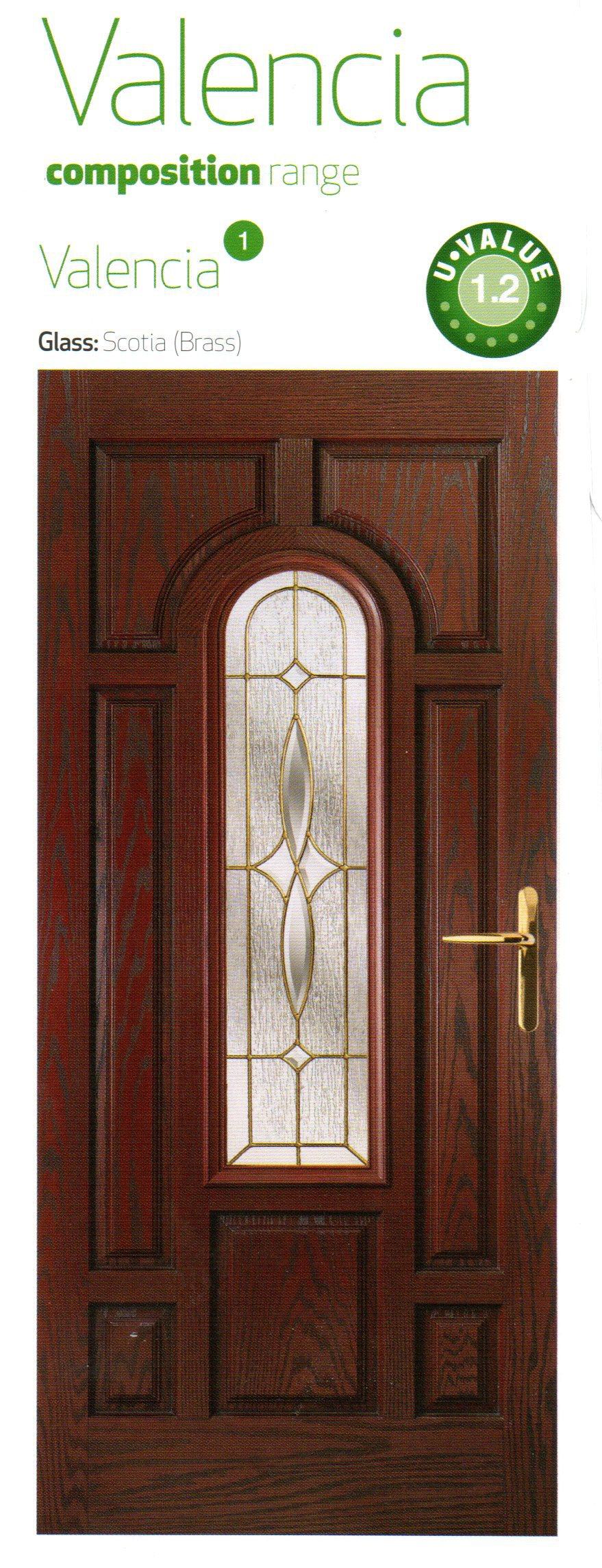 Reddish brown color composite door